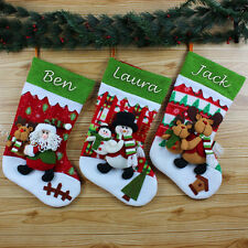 Personalised Deluxe Embroidered Jumbo Xmas Stocking Sack Luxury Santa Christmas