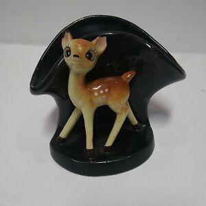 Vintage-Ceramic-Bambi-Deer-Fawn-Planter-Vase-Display