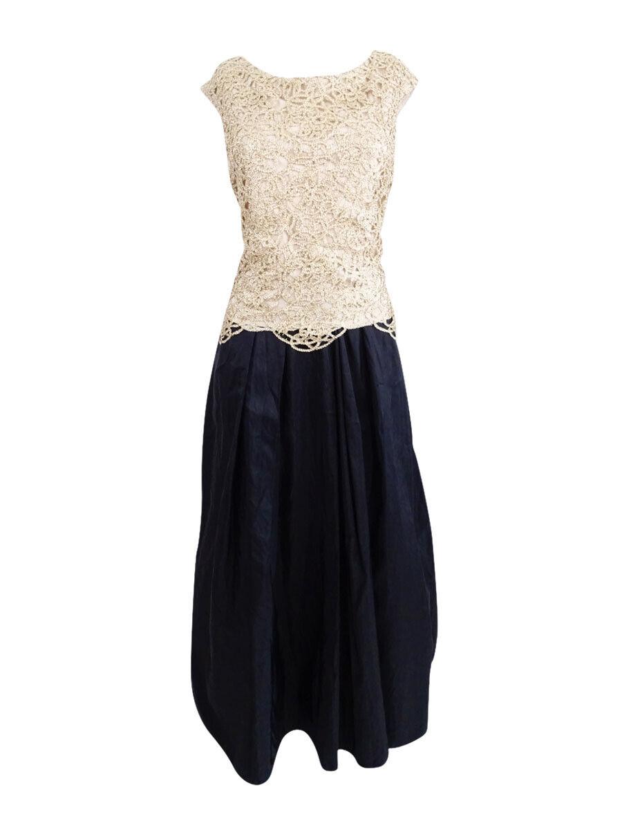 Alex Evenings Woherren Lace Contrast Dress (8P, schwarz Gold)