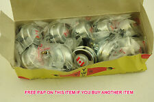 WHOLESALE JOB LOT TEN (10)  CANADIAN FLAG 55mm CHROME BELL LOUD 'RINGER' SOUND