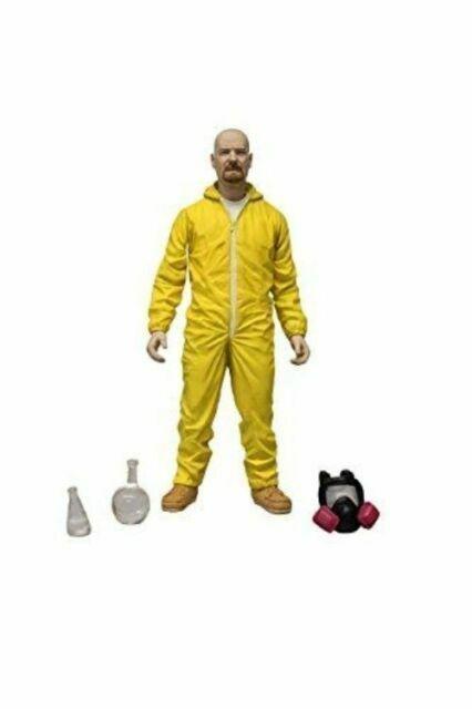 "AMC Breaking Bad Jesse Pinkman 6/"" Yellow Hazmat Suit TV Show Action Figure Mezco"