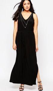 half off 28883 784c1 Details zu Kleid Gr.48+50 Maxikleid Kette Maxi Sommer Stretch schwarz Damen  lang festlich