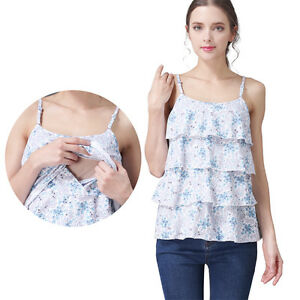 0399cd47f425a Image is loading Sleeveless-Maternity-Clothes-Nursing-Vest-Top-Camisole- Breastfeeding-