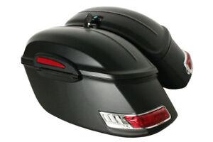 Matt-denim-black-RS-Motorcycle-Hard-Saddlebags-fits-ROAD-STAR-V-STAR-Royal-Star