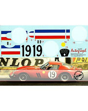 1/12 FERRARI 250 GTO DECAL LE MANS 1962 No. 19 #3705 GT for REVELL Guichet Noble