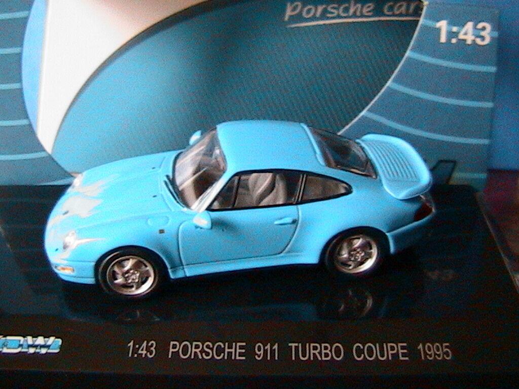 PORSCHE PORSCHE PORSCHE 911 TURBO COUPE 1995 LIGHT blueE KDW 711 COLLECTION 1 43 blue CIEL 0bcee4