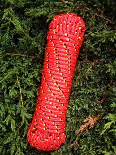 Nr.2 Rote Leine 8 mm Ersatzseil 30m,Festmacherleine,Ankerseil,Bootstau Strick