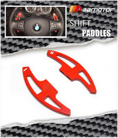 Painted Bmw E90 E92 E93 M3 Steering Wheel Extend Dct Clutch Shifter Paddles Red