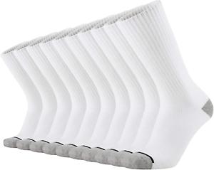 KMM Cotton Moisture Wicking Heavy Duty Work Boot Cushion Crew Socks Men 10 Pack
