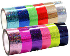 5m Rhythmic Gymnastics Decoration Holographic Prismatic Glitter Tape Hoops SHICA
