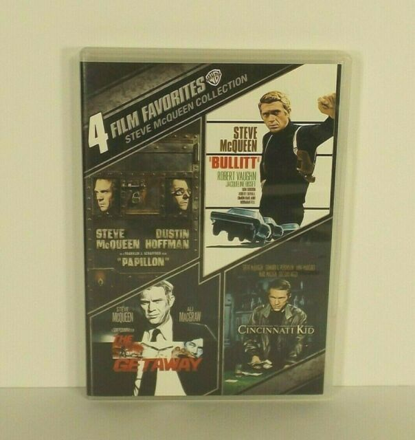 Steve McQueen 4 Film Favorites DVD Papillon BULLITT Cincinnati Kid THE GETAWAY
