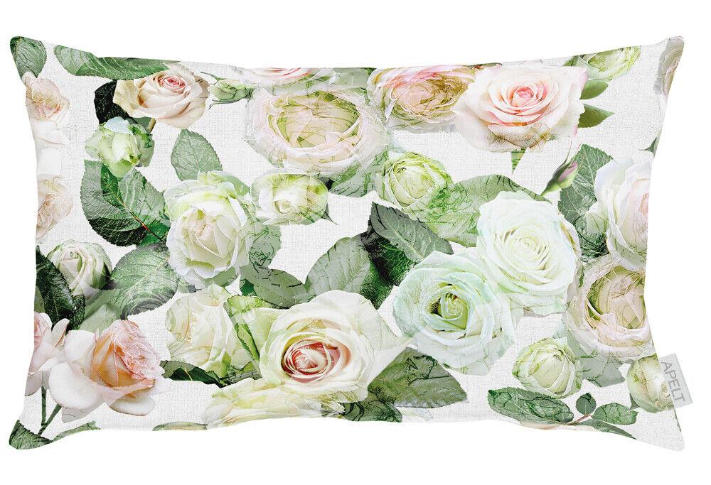 ApeltCharlotteKissenbezug40 x 80 cmweiß grün rose