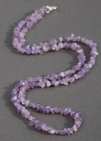 Amethyst Long Line Necklace 35 Length (february's Birthstone)
