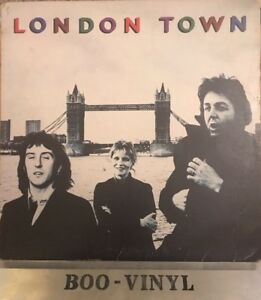 Wings-London-Town-Poster-PAS-10012-Vinyl-LP-Vg-Con