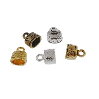 Wholesale 50Pc Craft Necklace Bracelet Fit 4mm Leather Cord End Bead Cap Stopper
