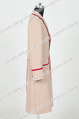 Who Cosplay Doctor The 5th Doctor Fifth Dr Peter Davison Costume Trench Coat New