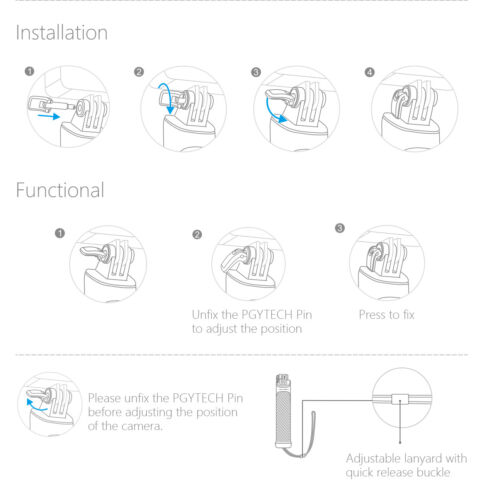PGYTECH FLOATING HAND GRIP FOR DJI ACTION CAMERA