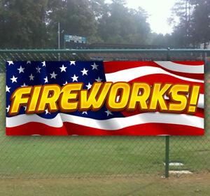 FIREWORKS Advertising Vinyl Banner Flag Sign Many Sizes USA