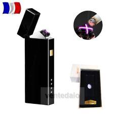 Briquet Double Arc Electrique USB Anti Vent Noir Mat Rechargeable Multi Usages +