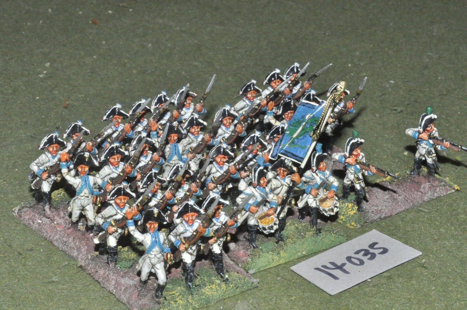 25mm napoleonic   saxon - infantry 38 figs - inf (14035)