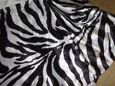 "WEST JUNCTION TAILORED FAUX FUR BLACK WHITE ZEBRA TWIN BEDSKIRT 15"" ANIMAL"
