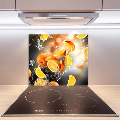 Herdabdeckplatten en verre anti-projections oranges eau 60x52 Cm