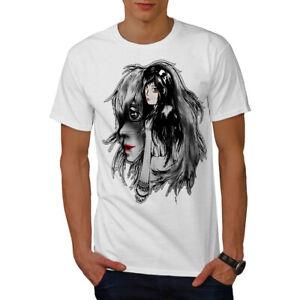 Wellcoda-bellissime-ANIME-Da-Uomo-T-shirt-misterioso-design-grafico-stampato-T-shirt