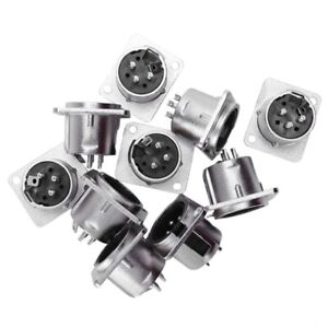 10-x-XLR-Male-Chassis-Panel-Mount-Socket-3-Pin-Audio-Studio-Connector-Z4E1