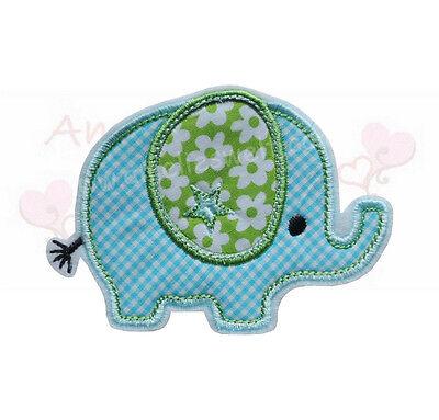 Baby Elefant Applikation Aufbügler Aufnäher Patch Bügelbild Sticker aufbügeln