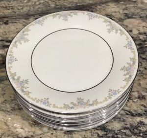 LOT-OF-2-ROYAL-DOULTON-GISELLE-H5086-MADE-1982-SALAD-PLATES-8-1-8-D-UNUSED