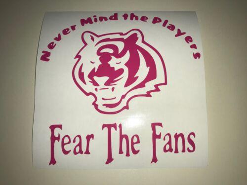 Window Toolbox Sticker #359 Fear the Fans NFL Cincinnati Bengals Stickers