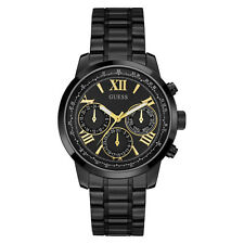 NEW GUESS WATCH for Women * Black w/Gold Accent Dial * Shiny Black Band U0330L15