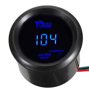 52mm Auto Digital Wasser Temperatur LED Licht Anzeige Instrument Fahrenheit