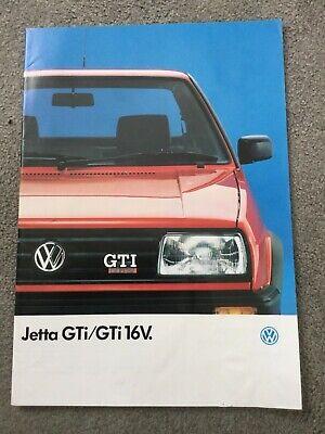 Volkswagen Vw Jetta Gti Gti 16v Brochure 1988 1989 Uk Market Vgc Ebay