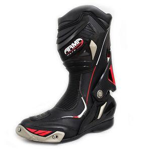 Armr-Moto-Harada-R-Bottes-Moto-Noir-Moto-Sport-Racing