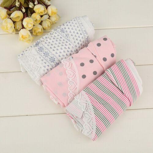 3pcs Lady Breathable Cotton Maternity Briefs Low Waist Pregnancy Underwear