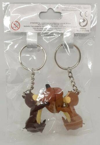 Disneyland Paris Chip And Dale Magnetic Keychains Keyring Wedding His Hers N 3D