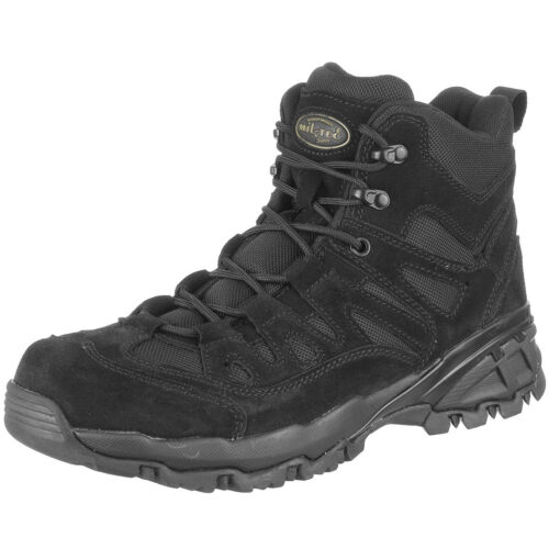 Mil-Tec Tactical Mens Military Squad Boots Police Security Patrol Footwear Black