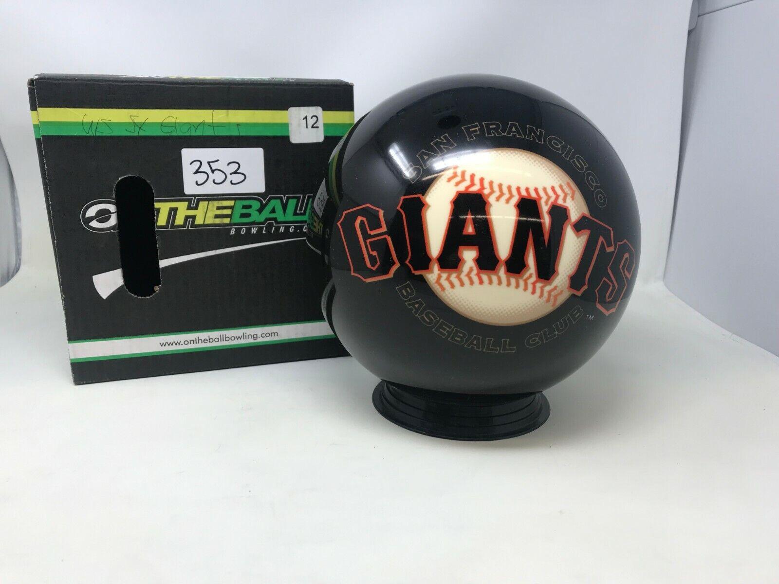 New OTB MLB San Francisco Giants 12Bowling Ball Viz-a-Ball (353)
