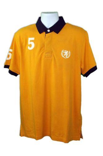 Tommy Hilfiger homme en coton jaune solide à manches courtes Custom Fit Polo Shirt