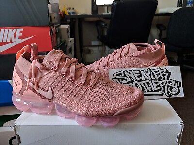 new concept 7acc7 1f445 Nike Women's Vapormax Flyknit 2 Rust Pink Tint Storm Gold Running  942843-600 | eBay