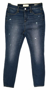 b4a08690a2bd3 NWT PACSUN Women's Camper Blue Cotton Stretch Distressed Jeggings ...