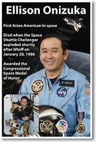Nasa Astronaut Ellison Onizuka - First Asian American In Space - Poster