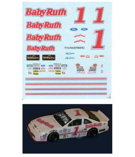 #1 Jeff Gordon 1990 Baby Ruth decal 1/64 scale AFX Tyco Lifelike Autoworld