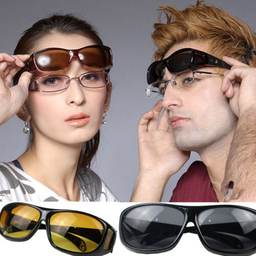 hot HD Night Vision Unisex Driving Sunglasses Nice Over Wrap Around Glasses C