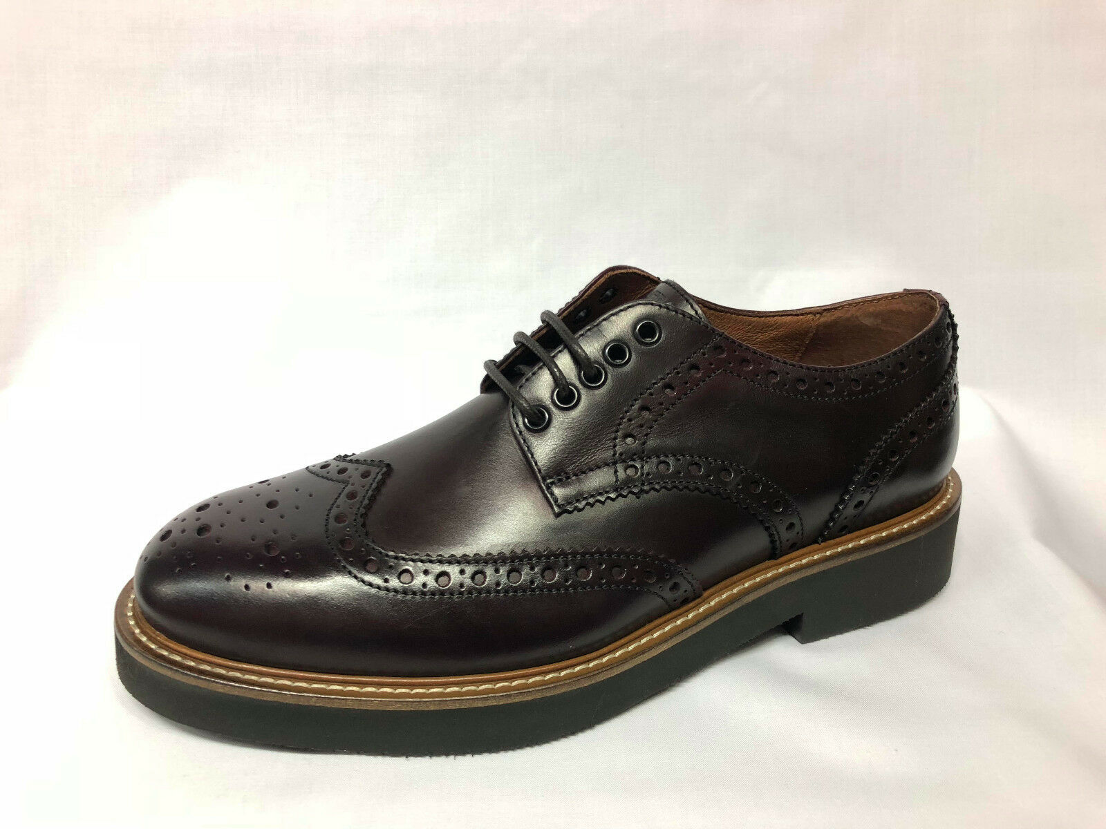 shoes Stringate Frau 74M7 brown Made in  tipo Dr. Martens list -20%