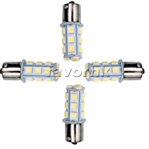 4-Pack 12V 1156 BA15S 5050 18-smd LED White Car RV Trailer Light Bulb 7503 1141