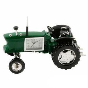 Miniature-Farmers-Green-Tractor-Novelty-Desktop-Collectors-Clock-9236G