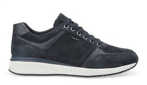 Image is loading Geox-Dennie-u620gb-Mens-Leather-Shoes-Suede-Sneakers- 1d5d92c251c