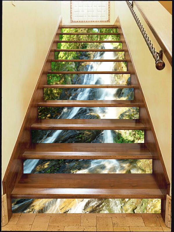 3D Woods, water 366 Stair Risers Decoration Photo Mural Vinyl Decal Wallpaper AU